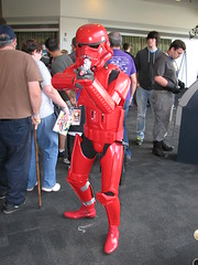 Red Stormtrooper (FranMoff) Tags: red crimson starwars costume cosplay stormtrooper costumer granitestatecomicon2013 granitecon2013