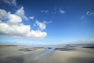 Normandia - sky over the Mont Saint - Michel