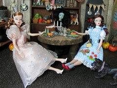 (32) Happy Halloween!!! (Foxy Belle) Tags: party halloween scale kitchen miniature doll witch oz cottage barbie haunted 16 diorama playscale