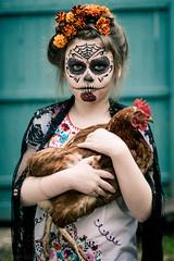 ¡Feliz Día de los Muertos! (Kilkennycat) Tags: portrait chicken girl canon children dayofthedead photography child makeup 50mm14 diadelosmuertos marigolds 500d kilkennycat t1i ryanconners
