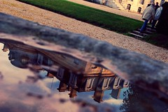 Adieu Champs (The Big Jiggety) Tags: france reflection castle puddle reflet chateau reflexions reflexion castillo flaque champssurmarne shieldofexcellence jesuscmsfavoritesgallery