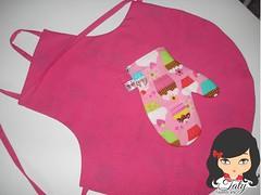 cozinha Infantil (Taty Fazendo Arte) Tags: de gorro pano rosa cupcake infantil garota avental menina poa prato cozinha baixo cozinheiro chapeu luva touca cozinheira