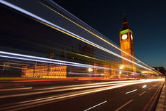 Westminster Light Trails (Mark Alberts [www.markalbertsphoto.com]) Tags: travel london westminster night unitedkingdom parliament bigben bluehour traffictrails travelphotography