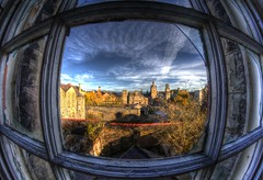A window to yesterday. (Kriegaffe 9) Tags: sky abandoned decay fisheye explore asylum derelict explored urbanarte