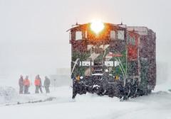 Paper Mill Job (Missabe Road) Tags: snow bnsf 3702 3701 mp15
