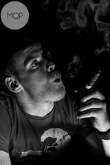Smoker no.2 (Mark Quigley - www.markquigley.ie) Tags: camera new ireland 2 portrait bw irish white man black film ex canon lens cool noir different album smoke flash atmosphere social cigar off eire awsome explore cover dslr smoker cuban sleeve bounce louth dundalk 580 experiement 2470 interesing 2013 5dmk2