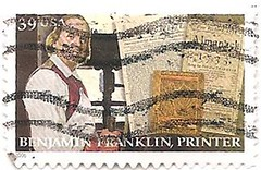 USA stamp - Benjamin Franklin, Printer (sftrajan) Tags: usa unitedstates printer stamps stamp inventor politician benjaminfranklin timbre scientist postagestamp philately publisher sello diplomat briefmarke  francobollo postmaster  39cents