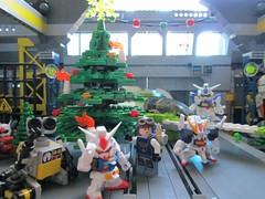 Merry Christmas for Gundams and Legos both! (dFangX) Tags: factory lego 4 next master sd minifig build gundam facility academy builder minifigure