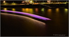 River going Curve, Brisbane, Australia (trebandicoot (Lynn)) Tags: light reflection water ferry night river moving streak brisbane trail catamaran queenslandaustralia abigfave blinkagain bestofblinkwinners blinksuperstars