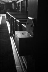 Werburgh Street Church 38 (Dave Road Records) Tags: ireland blackandwhite dublin church monochrome stainedglass woodenbench churchinterior irishchurch woodenpew dublinchurch werburghstreet