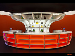 The orange bar (Just me, Aline) Tags: orange holland netherlands architecture modern bar utrecht nederland architectuur oranje mediaplaza haveadrink