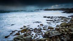 Penfoul sous les vagues (1) (Teaspoon29) Tags: ocean mer seascape france coast brittany rocks waves bretagne cote paysage vagues janvier rocher finistère 2014 penarbed landunvez penfoul argentonenlandunvez nikkor1635