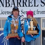 Ryan Moffat (Big White) and Maja Nymann (Mt. Washington), winners of the 2014 Enquist Slalom Cup PHOTO CREDIT: Derek Trussler