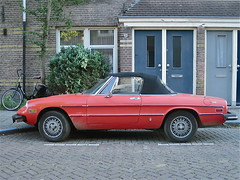 1976 ALFA ROMEO 1600/2000 Spider Iniezione (ClassicsOnTheStreet) Tags: classic amsterdam spider classiccar 2000 convertible 1600 alfa romeo 70s oldtimer streetphoto spotted 1970s alfaromeo injection cabrio 1976 streetview cabriolet pininfarina noord amsterdamnoord klassieker oleanderstraat inspuiting gespot 2013 einspritzung straatfoto iniezione carspot 68ya18