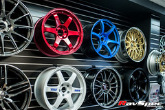 """VOLK Racing TE37SL 18x9.5 +22 Hyper Red • <a style=""""font-size:0.8em;"""" href=""""http://www.flickr.com/photos/64399356@N08/12914162994/"""" target=""""_blank"""">View on Flickr</a>"""