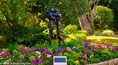 "Monaco-Ville Gardens: ""Invitation"" (wanderingYew2) Tags: sculpture flower garden monaco exoticgarden monacoville fujixpro1"