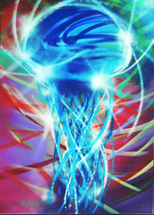 """""""Senza titolo"""" (WOKPHISTOLERO! (!)) Tags: ocean street blue light sea sky white fish color verde green art graffiti see mare underwater blu no ombra violet jelly concept title oniric acqua medusa viola azzurro colori bianco sotto luce ypres oceano senza titolo onirico"""