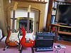 Fender Stratocaster Plus, and a Yamaha Pacifica 604 On A Vox Valvetronic Amp (Ian156) Tags: guitar guitars fender yamaha vox pacifica stratocaster fenderstratocasterplus yamahapacifica604 goldlacesensors