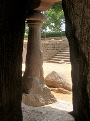 Pancha Rathas, Mahabalipuram (bodythongs) Tags: world sculpture india heritage statue rock stone architecture canon temple site cut five unesco ixus geology monuments monolith tamil chariot pancha mahabalipuram nadu mamallapuram whs rathas ratha mamalla monolithic mahabharata kancheepuram  pandava   mahendravarman  narasimhavarman   bodythongs