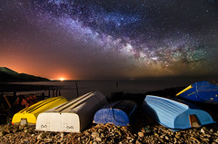 z2354 Under the Stars at Castlehaven, Niton (islandvisionsphotography) Tags: moon weather reflections stars moonlit ventnor astronomy thunderstorm storms floods sthelens shanklin seaview meteorology startrails milkyway stormchasing theneedles ashey whitecliffbay freshwaterbay lifeboatstation comptonbay orionsbelt niton stcatherineslighthouse seagrovebay bembridgepier sandownbaycastlehaven isleofwightlightning