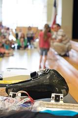 Jordan Malone interacts with Nelson Elementary students (dentonisd) Tags: ice students vancouver texas tx skater olympics denton medals sochi schoolassembly speedskater dentonisd jordanmalone nelsonelementary