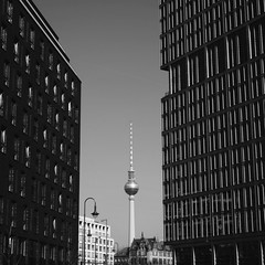 A different view of the TV Tower in Berlin (Louis Tyson) Tags: street blackandwhite building berlin tower architecture 35mm germany deutschland prime fuji streetphotography fernsehturm fujifilm blacknwhite schwarzweiss bnw tvtower perpective schwarzweis vsco fujixpro1 fujifilmxpro1 vscocam uploaded:by=flickrmobile flickriosapp:filter=nofilter vscoedit