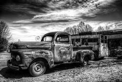 Old Truck (Klaus Ficker) Tags: old blackandwhite bw usa art car canon photography kentucky mature oldtimer beauties milf cumberland klausficker