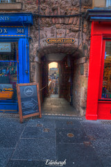 Edinburgh, Scotland, United Kingdom (Stewart Leiwakabessy) Tags: street city uk people mist bus history cars car fog buildings scotland spring cool alley edinburgh close cloudy unitedkingdom tram unesco worldheritagesite hills royalmile newtown oldtown hdr highdynamicrange lothian haar advocatesclose photomatix tonemapped tonemapping dnideann uk2014