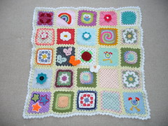 702 Linda (Chalky's World). Thank you. (MRS TWINS/SIBOL 'Sunshine International Blankets) Tags: squares elderly blankets crocheted sibol