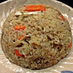 (Danburg Murmur) Tags: mushrooms rice taiwan plate carrot lamb taipei   taipeirestaurants   hjsfreshgrill