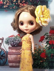 "Blythe-a-Day, May 1: Flowers: Angel Farget, ""The French Flower"""