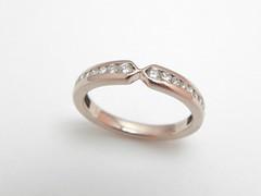 チャネル・セッティング・リング   Channel Set Diamonds  Eternity ring (jewelrycraft.kokura) Tags: diamond eternity 指輪 pinkgold channel ダイヤモンド k18 ピンクゴールド ダイヤ ハーフエタニティリング チャネルセッティング