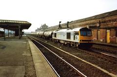 Wakefield Kirkgate, 15 March 1993 (elkemasa) Tags: 1993 wakefieldkirkgate class60