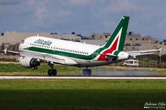 Alitalia --- Airbus A319 --- EI-IMR (Drinu C) Tags: plane aircraft sony airbus dsc alitalia mla a319 lmml hx100v eiimr adrianciliaphotography