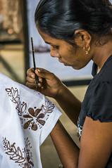 Batik painter, Sri Lanka (alinnaa) Tags: paint handmade tissue craft srilanka artisan batik paintedflowers