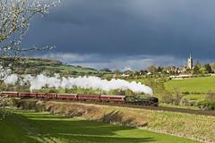 'Britannia' passing Bathford (powern56) Tags: 70000 britannia bath railbathford somerset steamlocomotive steamtrain railway