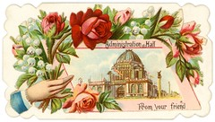 World's Columbian Exposition Calling Card, Administration Hall (Alan Mays) Tags: old flowers blue friends red roses chicago men green leaves vintage buildings paper cards illinois holding hands women fairs antique 19thcentury victorian illustrations il ephemera names scraps domes printed cuffs borders 1893 owens edges nineteenthcentury 1890s scalloped columbianexposition administrationbuilding callingcards expositions chicagoworldsfair worldscolumbianexposition worldsfairs harryowens namecards diecuts visitingcards hiddenname administrationhall concealedname