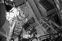 Magical (bhop) Tags: california santa leica blackandwhite bw classic 35mm store los junk angeles kodak iso400 f14 voigtlander trix rangefinder ceiling monica 400 filmcamera m6 premium nokton hung arista v700