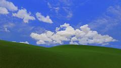 Skyrim (JavierCC) Tags: blue windows sky grass xp bliss skyrim