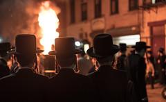 Lag B'Omer Brooklyn (Several seconds) Tags: nyc newyork brooklyn williamsburg streetmusic hasidic bonfires lagbomer