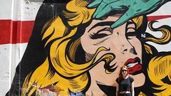 (marirenaa) Tags: street trip woman sun streetart art me girl comics graffiti ginger sad drawing crying sunny redhead greece redhair volos