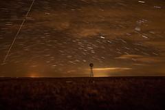Star Trails on the range... (mnhagar) Tags: sky windmill night canon stars nightshot farmland nighttime nightphoto startrails efs1022mm t6i canont6i