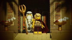 332 B.C. - Alexander the Great at Siwa (legophthalmos) Tags: history lego god anniversary great birth egypt son persia oasis zeus alexander libya timeless siwa ammon macedonian makedonia  macedoniagreece