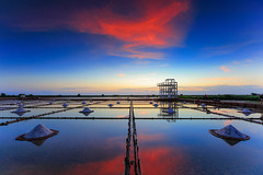 ( Daniel) Tags: sunset sky cloud reflection field clouds canon salt taiwan  tainan       ting                 ef1635mmf28liiusm canon6d