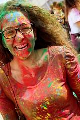 Holi festival (alessandro nicomedi) Tags: festival canon donna colore holi ragazza 600d