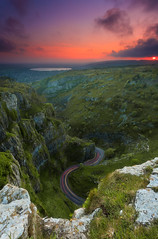 The Long and Winding Road (Nicholas Seymour) Tags: road uk greatbritain light sunset england sky cliff southwest green canon landscape golden rocks europe unitedkingdom britain wideangle somerset trail hour gorge roads 1740mm cheddar 6d cheddargorge canon1740mm canon6d