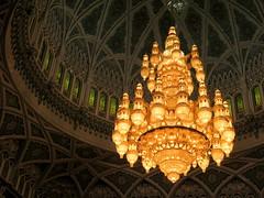 Mr. Swarovski would be proud (oobwoodman) Tags: mosque chandelier swarovski oman muscat mosque grandmosque moschee