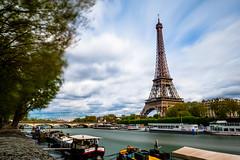 tour eiffel 2 (Chakib.T) Tags: city urban paris tower colors architecture clouds movement nikon cityscape tour eiffel nd longexpossur d800e