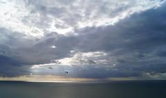 Flying (Bould'Oche) Tags: blue sunset sky sun france clouds soleil photo thomas sony magic coucher bleu normandie alpha nuages amateur haute 58 photographies fcamp magique maheut