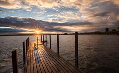 Sunset (He_Da) Tags: sunset sun reflection clouds schweiz switzerland colours sonnenuntergang wolken sonne farben reflektion afterglow landingstage abendrot abendstimmung bootssteg eveningmood